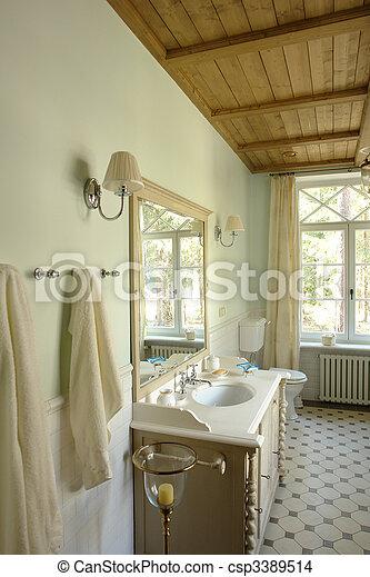 interior of a bathroom - csp3389514