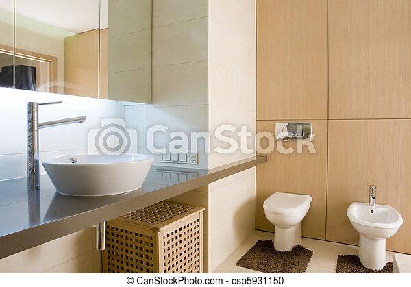 interior of a bathroom - csp5931150