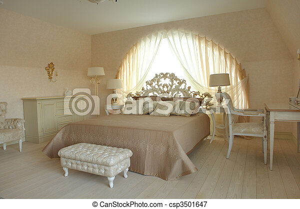 interior of a bedroom - csp3501647