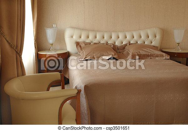 interior of a bedroom - csp3501651