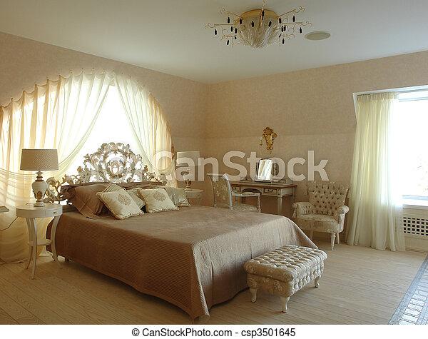 interior of a bedroom - csp3501645