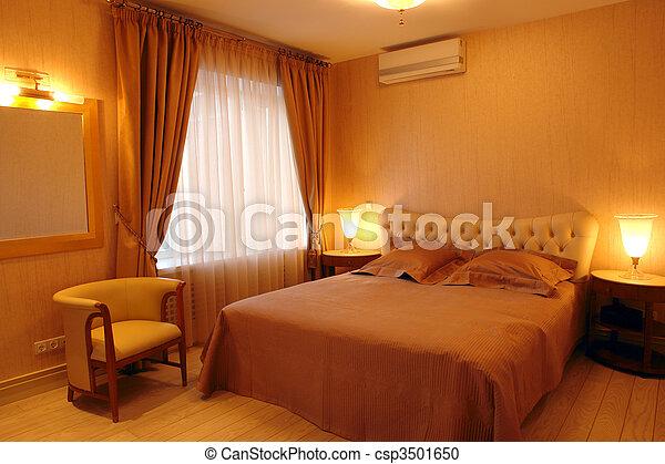 interior of a bedroom - csp3501650