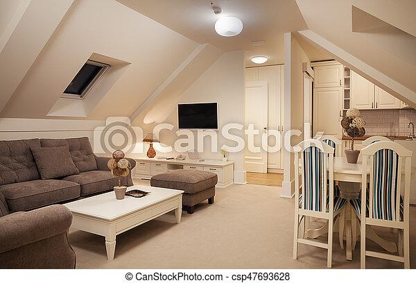 Interior of a Hotel Apartment - csp47693628