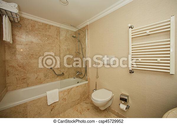 Interior of a hotel bathroom - csp45729952
