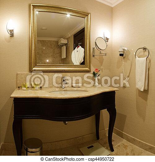 Interior of a hotel bathroom - csp44950722