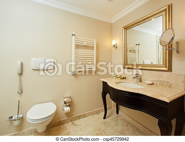 Interior of a hotel bathroom - csp45729942