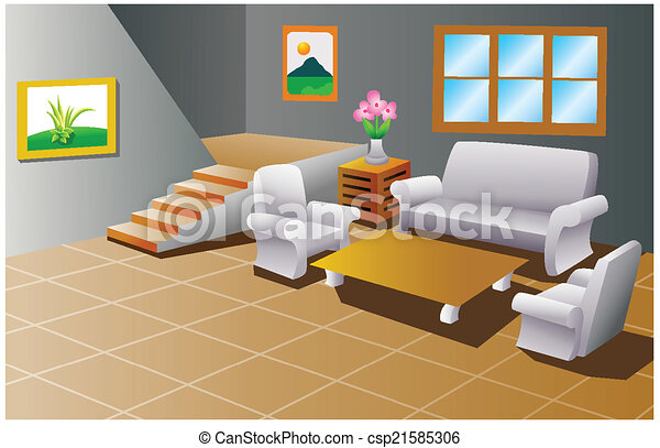 Interior Of A House Living Room   Csp21585306