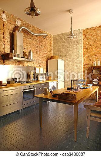 interior of a kitchen - csp3430087