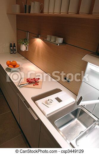 interior of a kitchen - csp3449129