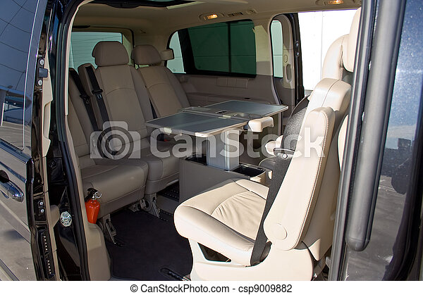 Awesome Interior Of A Minivan   Csp9009882