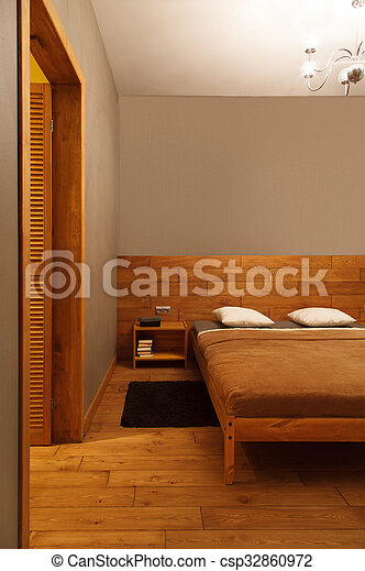 Interior of a modern bedroom - csp32860972