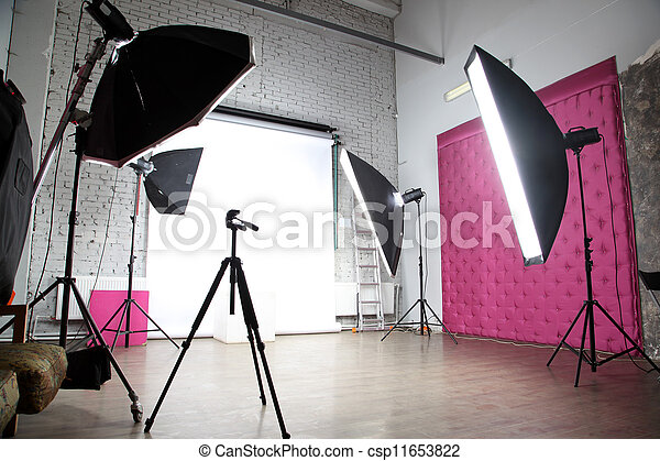 interior of a modern photo studio - csp11653822