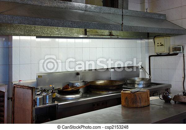 Interior Of A Restaurant Kitchen In Chinese Restaurant Canstock