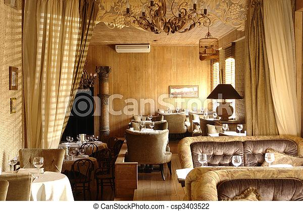 interior of a restaurant - csp3403522