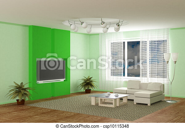 Interior of a room of rest. 3D image - csp10115348