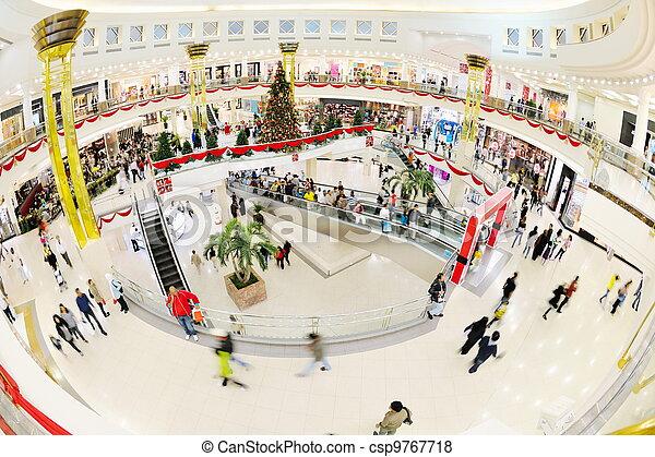 Interior of a shopping mall - csp9767718