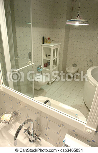 interior of bathroom - csp3465834