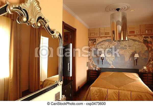 interior of bedroom - csp3473600