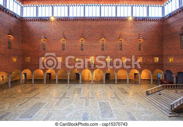 Interior of Blue Hall - csp15370743