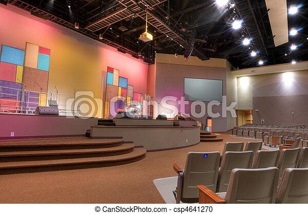 Interior of Church - csp4641270