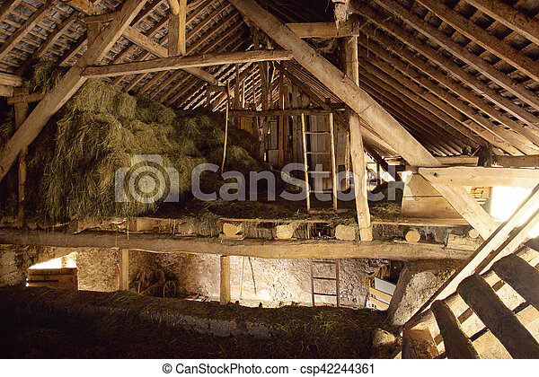 Interior Of Hay Barn