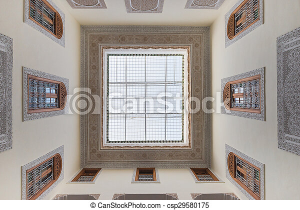 Interior of house in arabian style has clear roof top - csp29580175