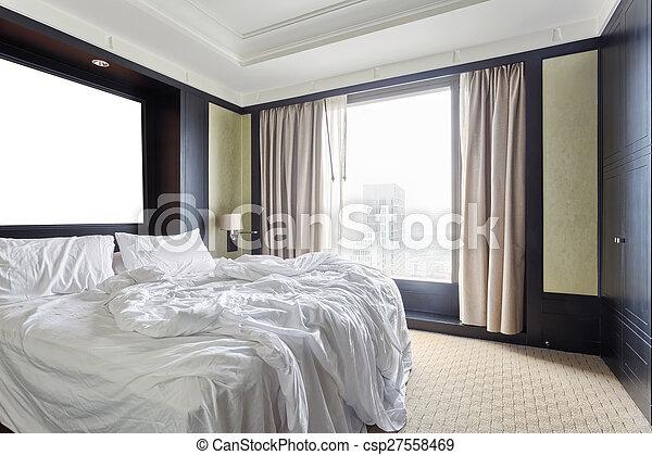 Interior of modern bedroom - csp27558469
