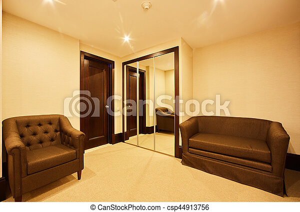 Interior of modern comfortable hotel room. - csp44913756