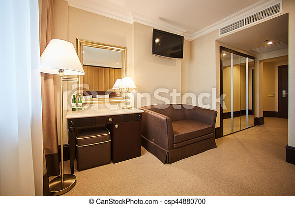 Interior of modern comfortable hotel room. - csp44880700