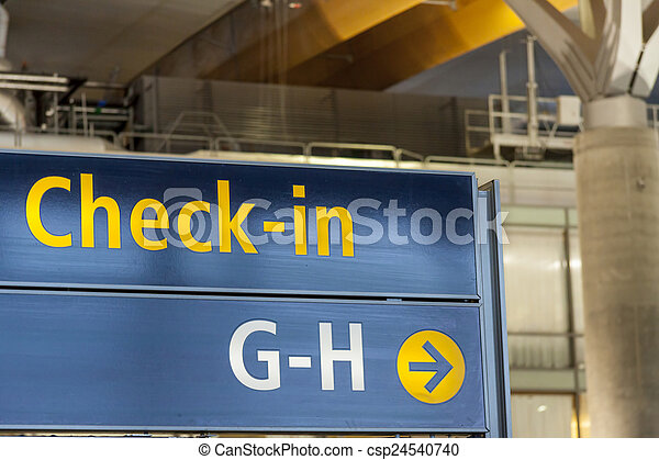 Interior of Oslo Gardermoen International Airport - csp24540740