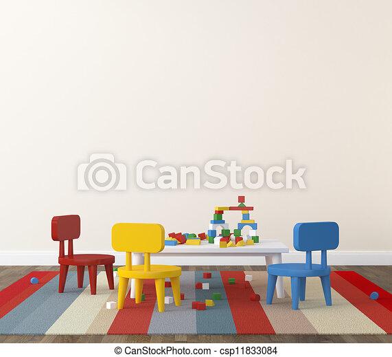 Interior of playroom kidsroom  - csp11833084