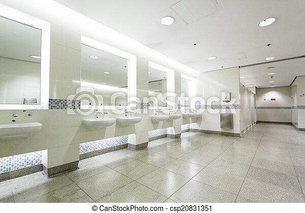 interior of private restroom  - csp20831351