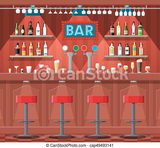 Drinking Establishment Interior Of Pub Cafe Or Bar Bar