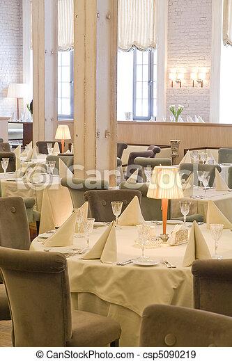 interior of restaurant - csp5090219