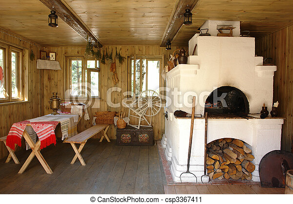 Interior of russian house with traditional oven on traditional french houses, traditional scottish houses, russia city houses, traditional hmong houses, traditional serbian houses, old french houses, traditional italian houses, traditional belgian houses, traditional bulgarian houses, traditional greek houses, traditional danish houses, traditional chinese house, traditional swedish houses, siberia russia houses, traditional ukraine houses, izba peasant houses, traditional tswana houses, traditional norwegian houses, traditional omani houses, traditional irish houses,