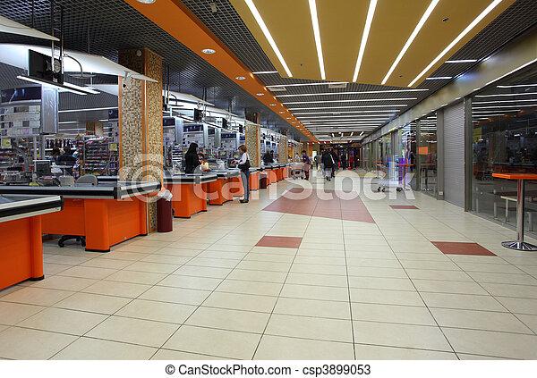 interior of supermarket - csp3899053