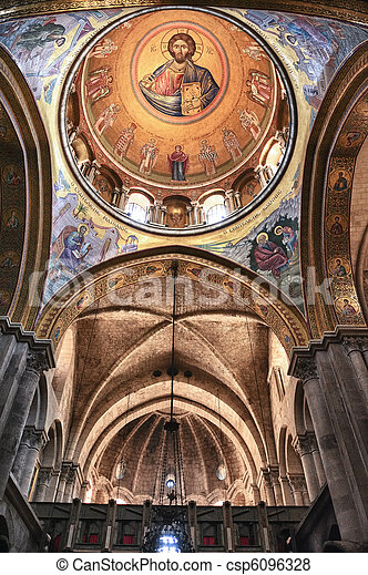 Interior of the Church of the Holy Sepulchre - csp6096328