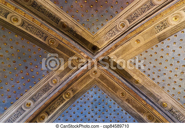 Interior of the museum complex of Santa Maria della Scala in Siena - csp84589710