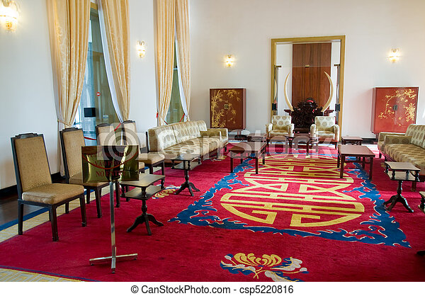 Interior of the Reunification Palace in Ho hi Minh City - csp5220816