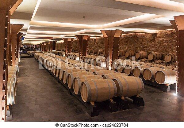 Interior of the Vivanco winery museum  - csp24623784