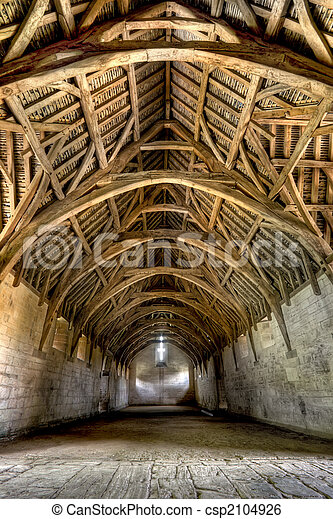 Interior Of Tithe Barn Near Bath England The Tithe Barn