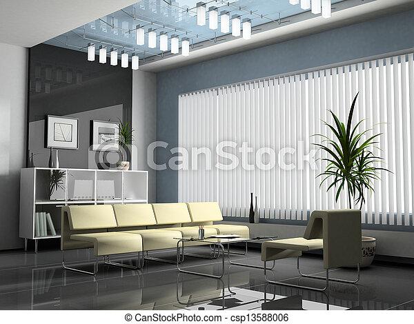 Interior office for negotiations 3D rendering - csp13588006