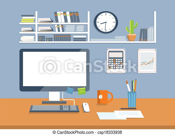 Interior office design style flat style design for Interior design video clips