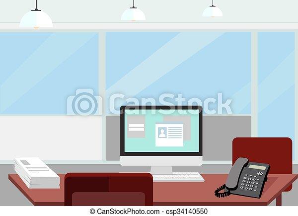 Interior office room.vector illustration for design. Modern ...