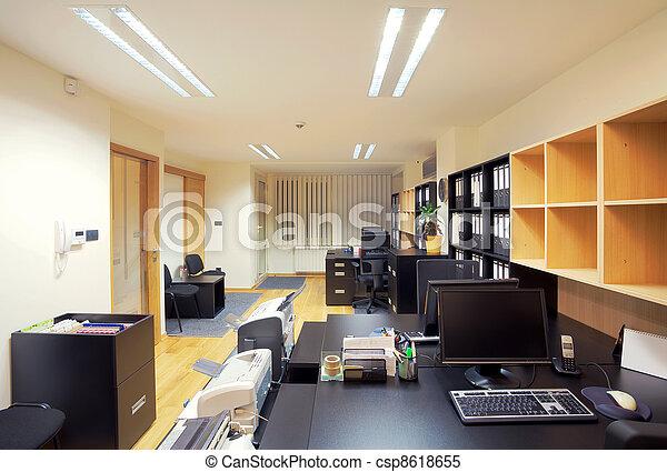interior, oficina - csp8618655