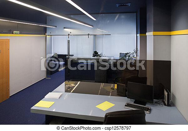 interior, oficina - csp12578797
