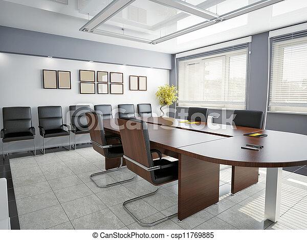 interior, oficina - csp11769885
