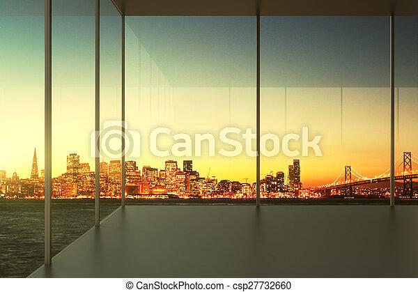 interior, oficina vacía - csp27732660