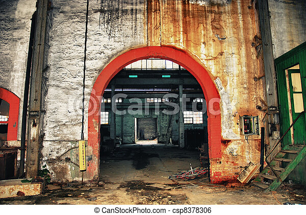 Interior old mine - csp8378306