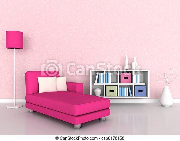 interior, quarto moderno - csp6178158